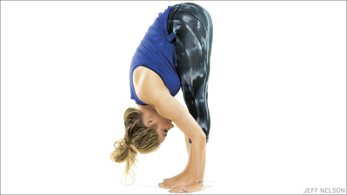 forward bend yoga pose