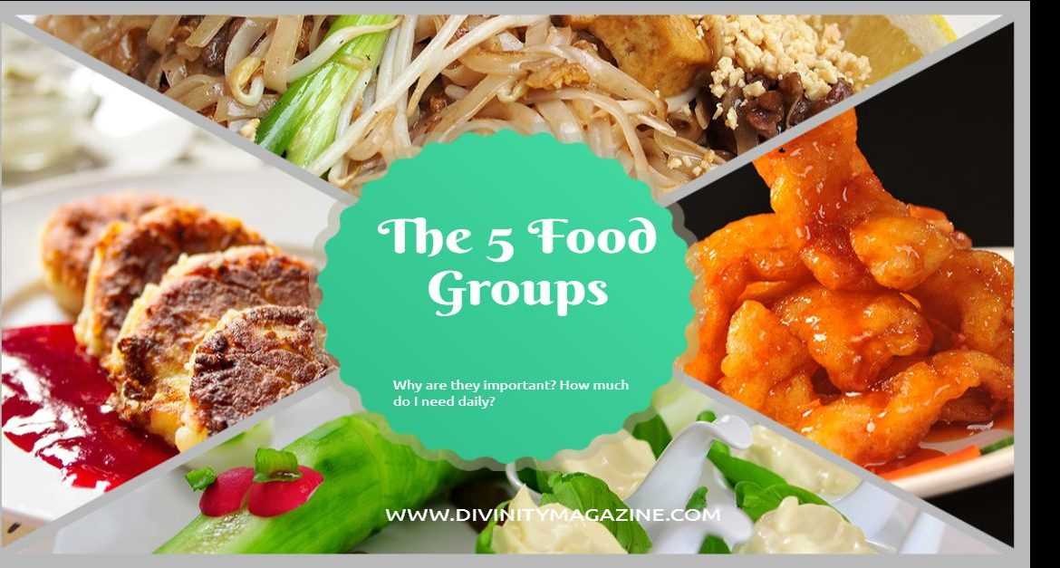 the 5 food groups of nutrition